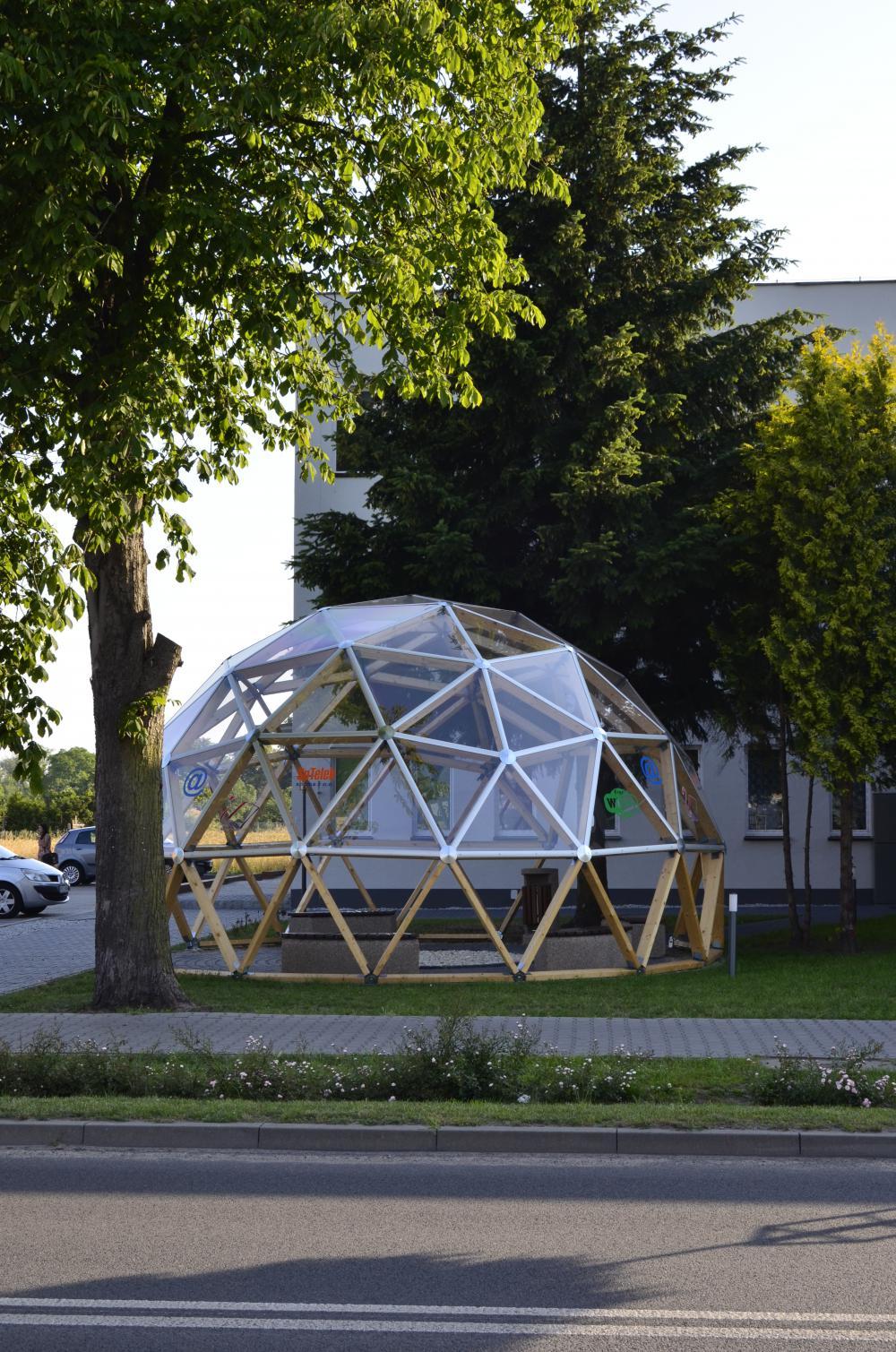 Geodätischen Kuppel kopuła geodezyjna konstrukto
